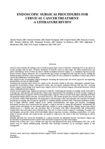 Literature review on cervical cancer